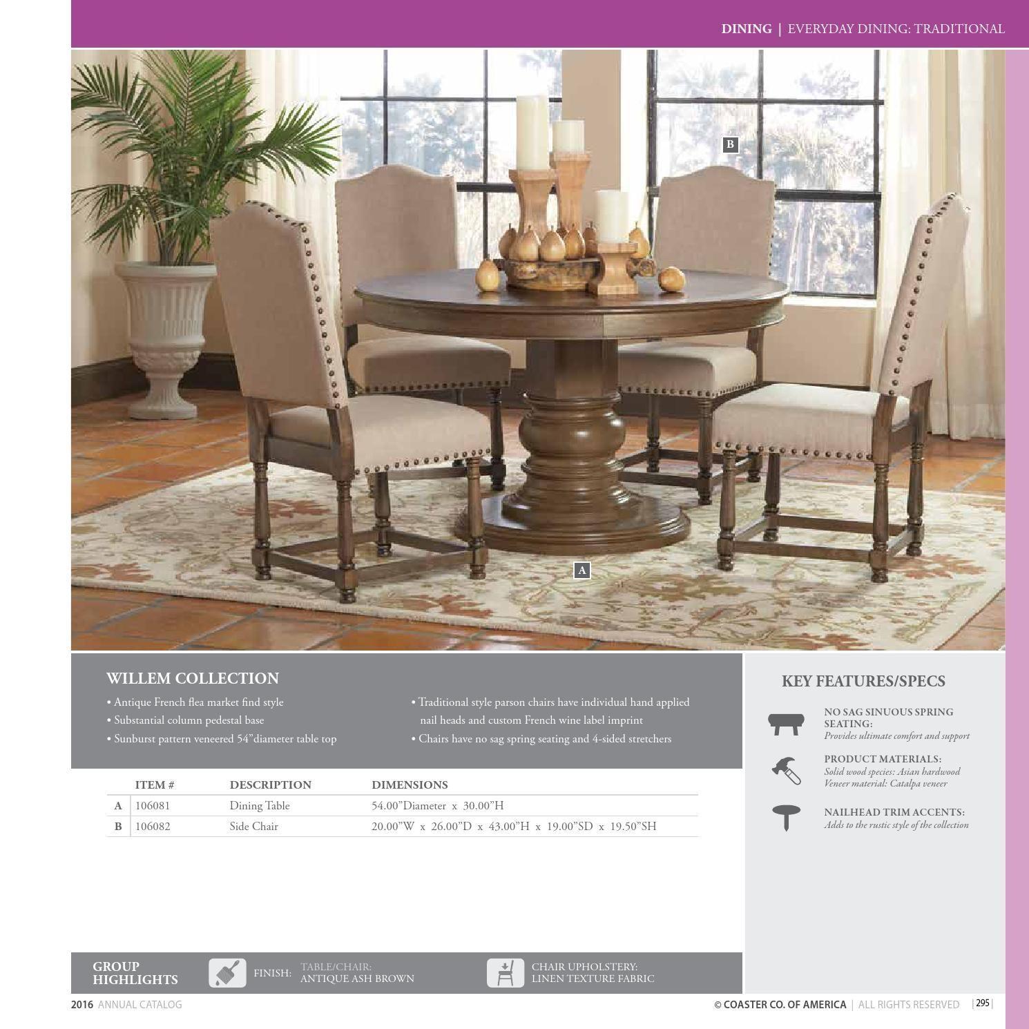 Issuu 2016 Dining Catalog By Coaster Company Of America