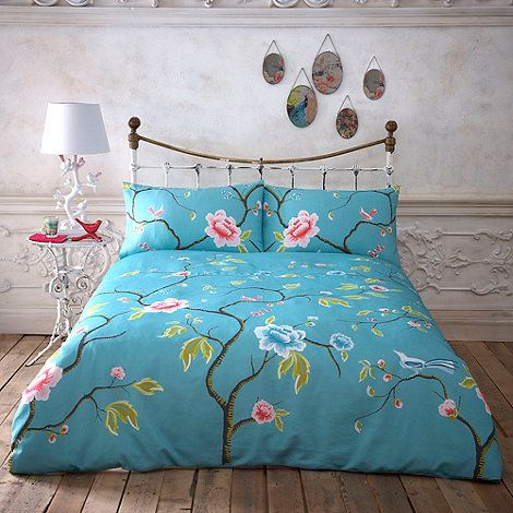 Butterfly Home by Matthew Williamson Turquoise floral bedding set  at  Debenhams com. Butterfly Home by Matthew Williamson Turquoise floral bedding set