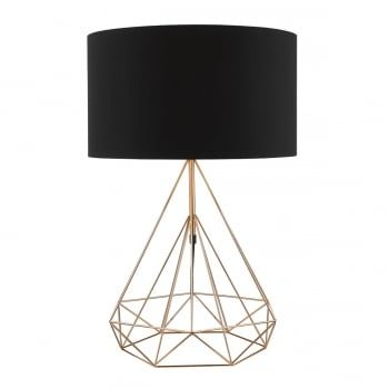 Dar sword table lamp copper copper table lamps from pagazzi lighting double insulated copper lamp with inline rocker free next day delivery available