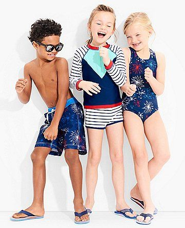 Hanna Andersson - red, white and blue kids collection for summer.
