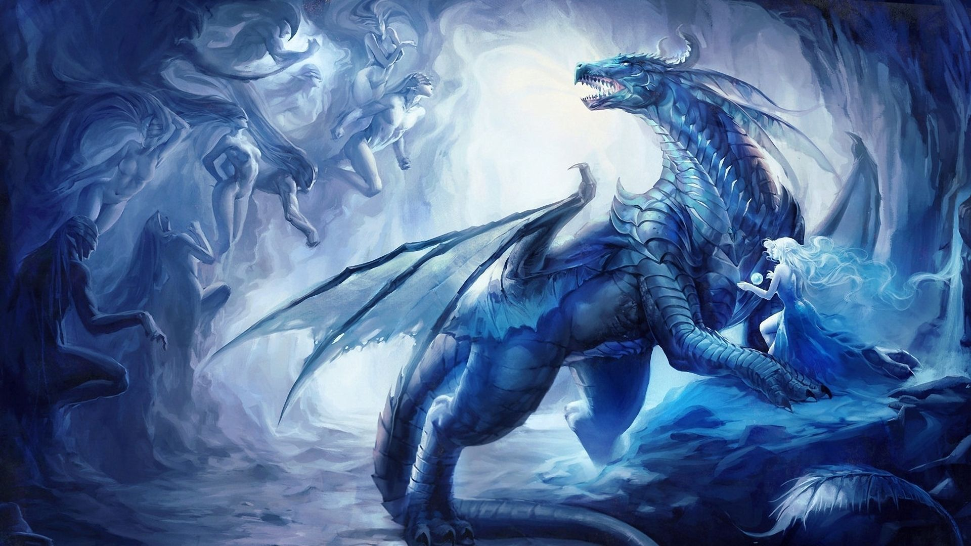 hd wallpaper 1920x1080 dragon blue dragon wallpaper dragons