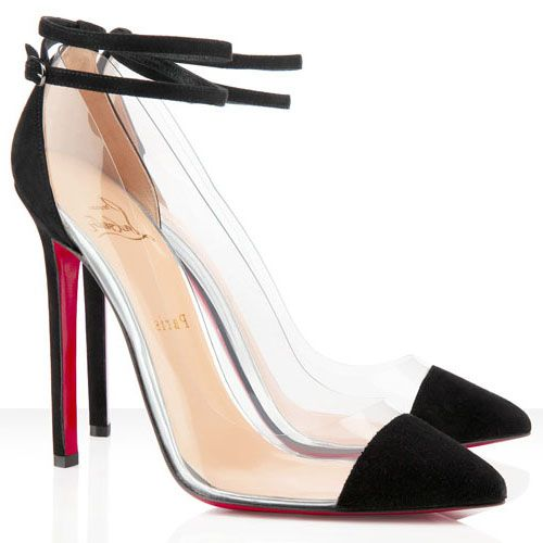 christian louboutin bis un bout 120mm pumps black