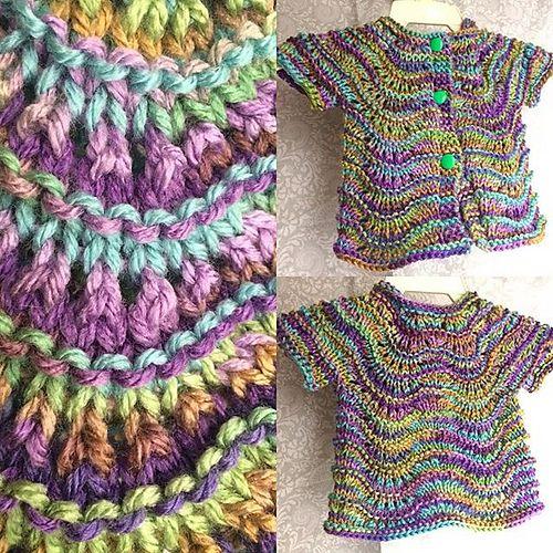 Lily Ripple Infant Cardigan Free Knitting Pattern | Kids stuff ...