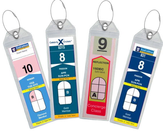 ★ZIP TOP SEAL★ Never have to worry about your tags getting lost or wet! 100% SATISFACTION GUARANTEE  ★High Quality★ For Printed Paper Cruise Tags (4 OR 8 Per Pack depending on your selection) - These Clear Cruise Luggage Tag Holders have been designed to easily fit/ hold the printed paper boarding pass that are sent by the cruise lines. These wallets will fit your folded A4 documents, so no need to carry around a stapler or clear tape anymore  ★Highwind Cruise Tags★ Made From Extra Stron...