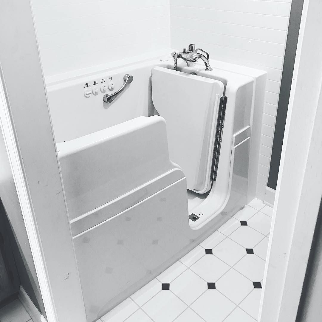Check Out This White On White Bathroom Featuring A Jacuzzi Walk In Bathtub