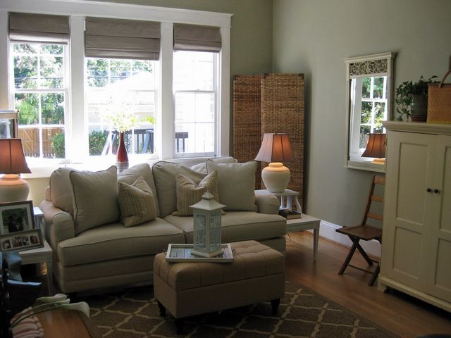 Sage green family room sage future and room for Sage living room ideas