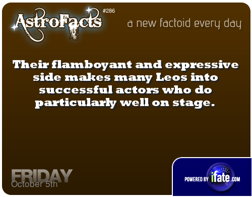 Daily astrology fact from AstroFacts! Even if you don't know how to read a birth chart, you can get a free step-by-step reading on iFate.  Visit iFate.com today!