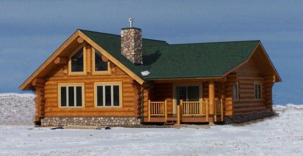 Zephyr Three Quarter View Log Homes Log Cabin Exterior House Design