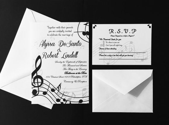 Music Themed Wedding Invitations Invitaciones De Boda