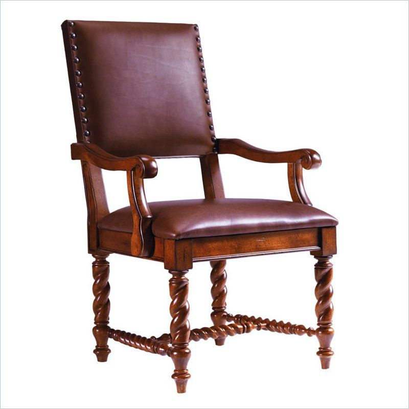 Stanley Furniture Santa Barbara Barley Twist Leg Leather
