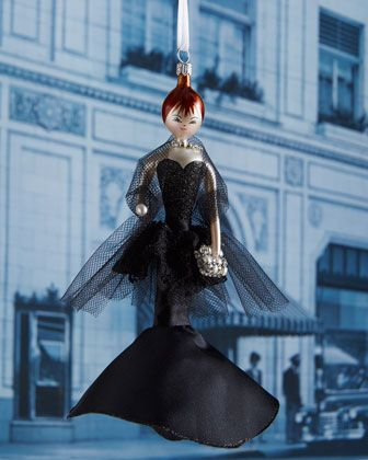 Connie+in+Black+Evening+Dress+Christmas+Ornament+by+De+Carlini+at+Neiman+Marcus.