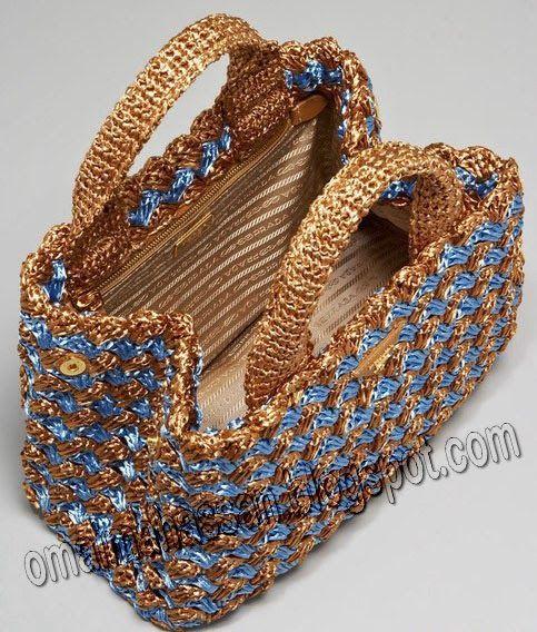 crochet kingdom (E.H): beautiful crochet raffia bag ! -