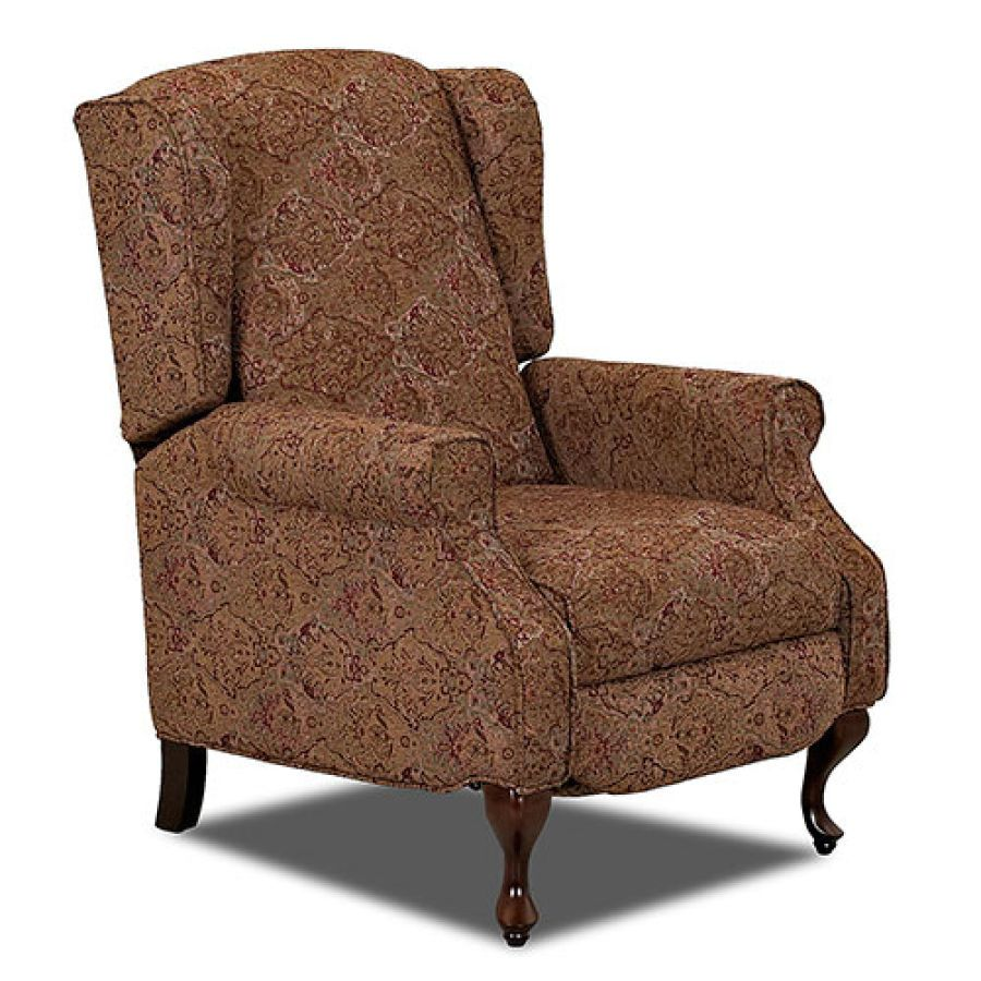 Klaussner Winchester Recliner Tapestry And Solid High Leg Recliner Recliner Furniture
