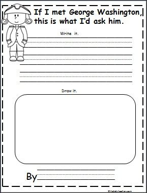 This is a George Washington writing activity available FREE on ...