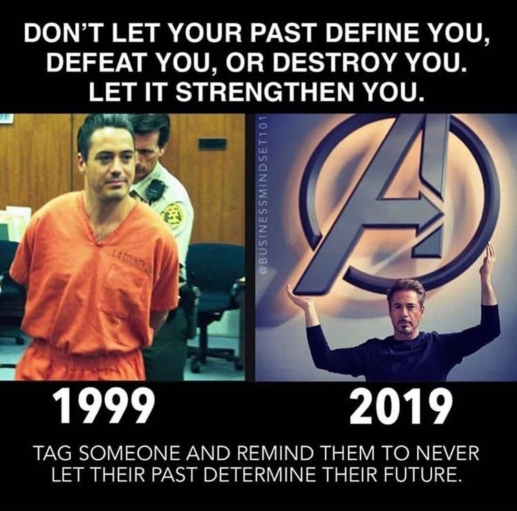 If Cancel Culture Existed In 2007 We Would Never Have Gotten Rdj As Iron Man Do Not Let Your Past Define You Look A Marvel Quotes Marvel Jokes Marvel Memes