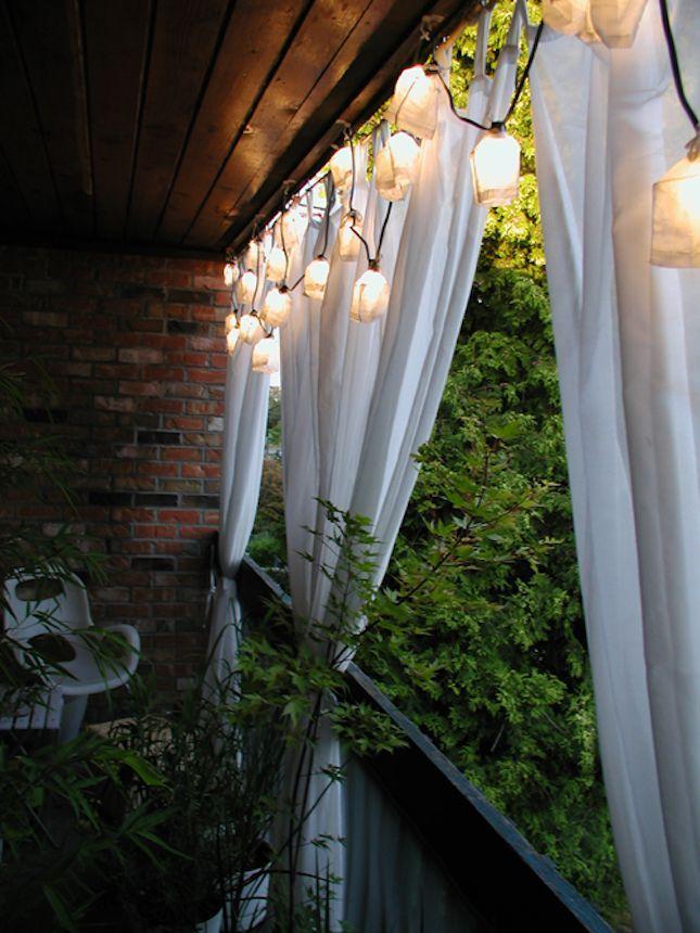 cozy balcony Gardens Pinterest Cortinas, Balcones y Terrazas - cortinas para terrazas