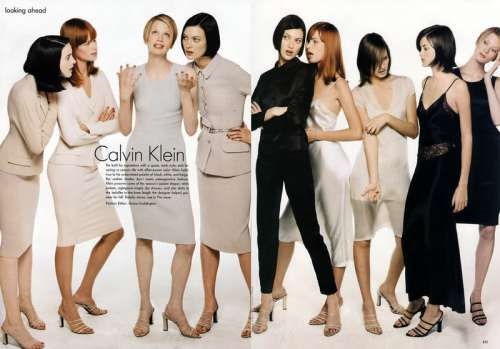 designed by Calvin Klein, late 1990s was influenced in minimalism with black and whtie (29.10.13)