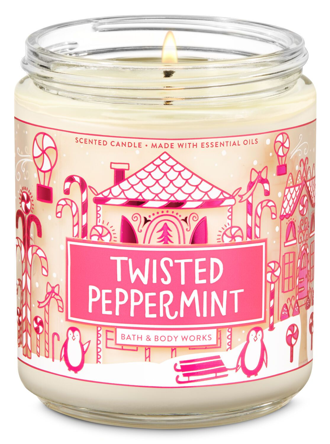 Twisted Peppermint Single Wick Candle | Peppermint candles ...