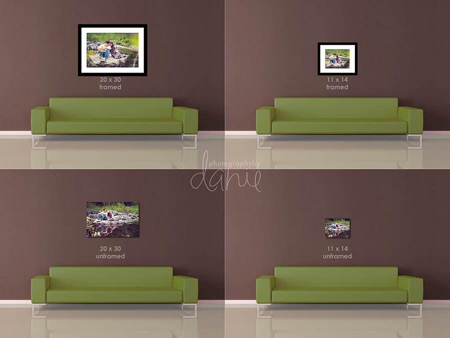 Canvas Size Comparison Print Your Photos Living Spaces Canvas Size