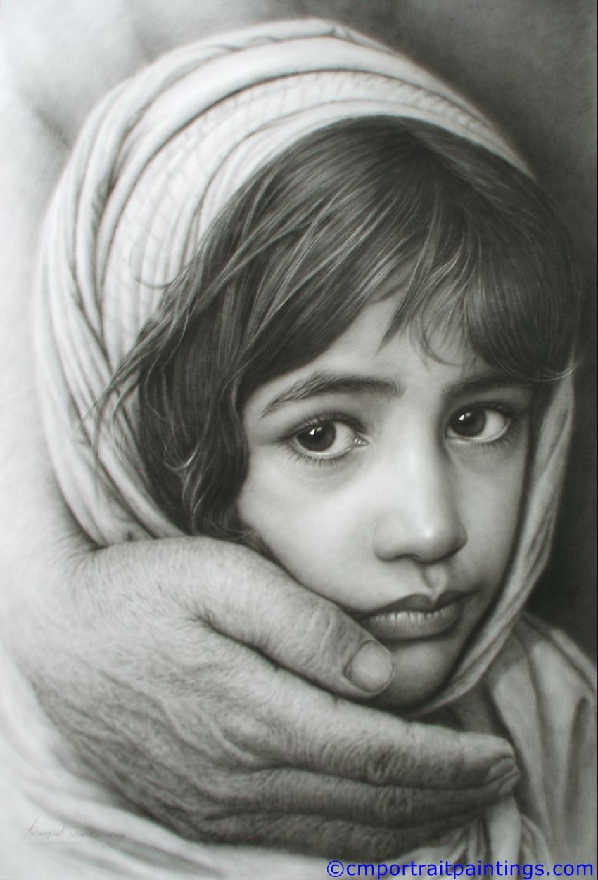 Girl And Hand I Cant Believe This Is A Pencil Drawing - Artist uses pencils to create striking hyper realistic portraits