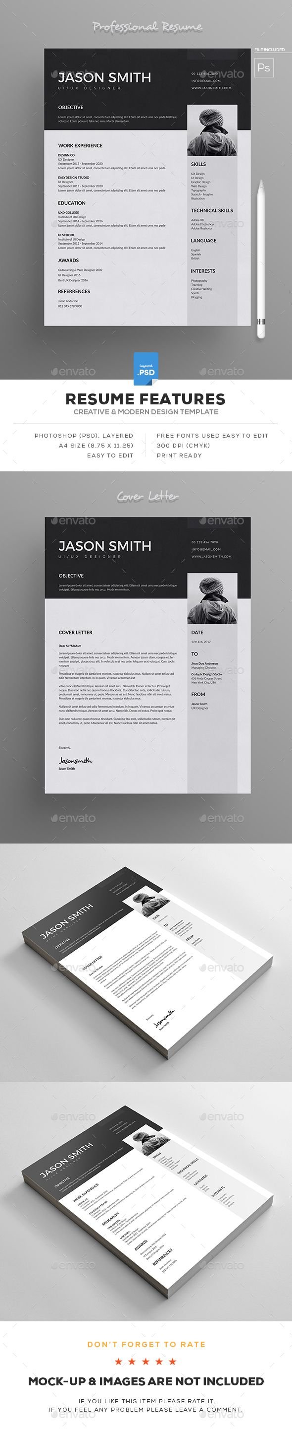 Resume   Template  Cv template and Resume cv  Resume   Resumes Stationery Download here  https   graphicriver net item  resume 19311193 ref alena994