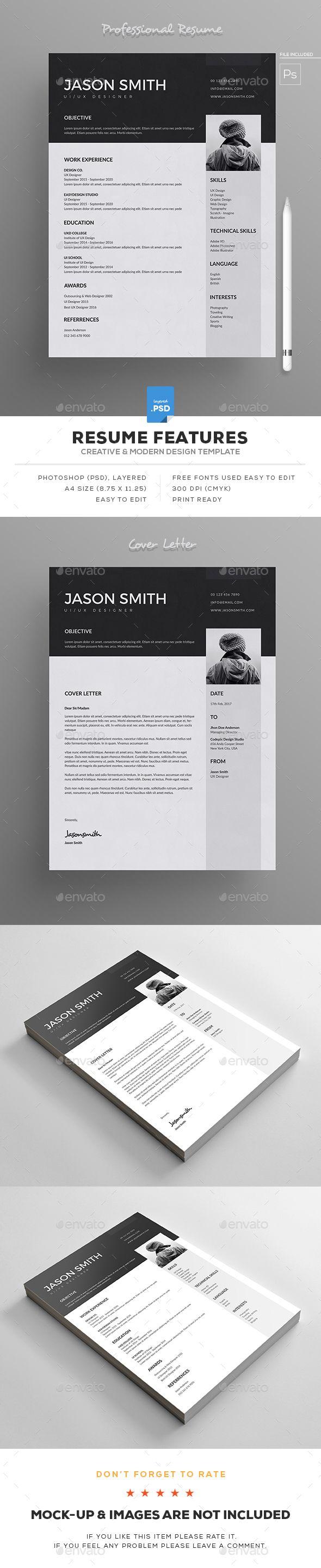 Resume | Template, Cv template and Resume cv