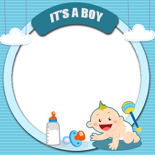 Generate Its A Boy Cute Baby Welcome Photo Frame With Your Photo Pics Personalized Newborn Baby Welcome Photo Fram Baby Boy Photos Welcome Baby Boys Boy Photos