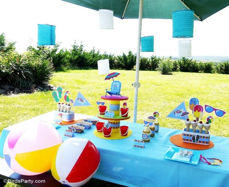 Pool Party Ideas Kids Summer Printables Pool Birthday Party