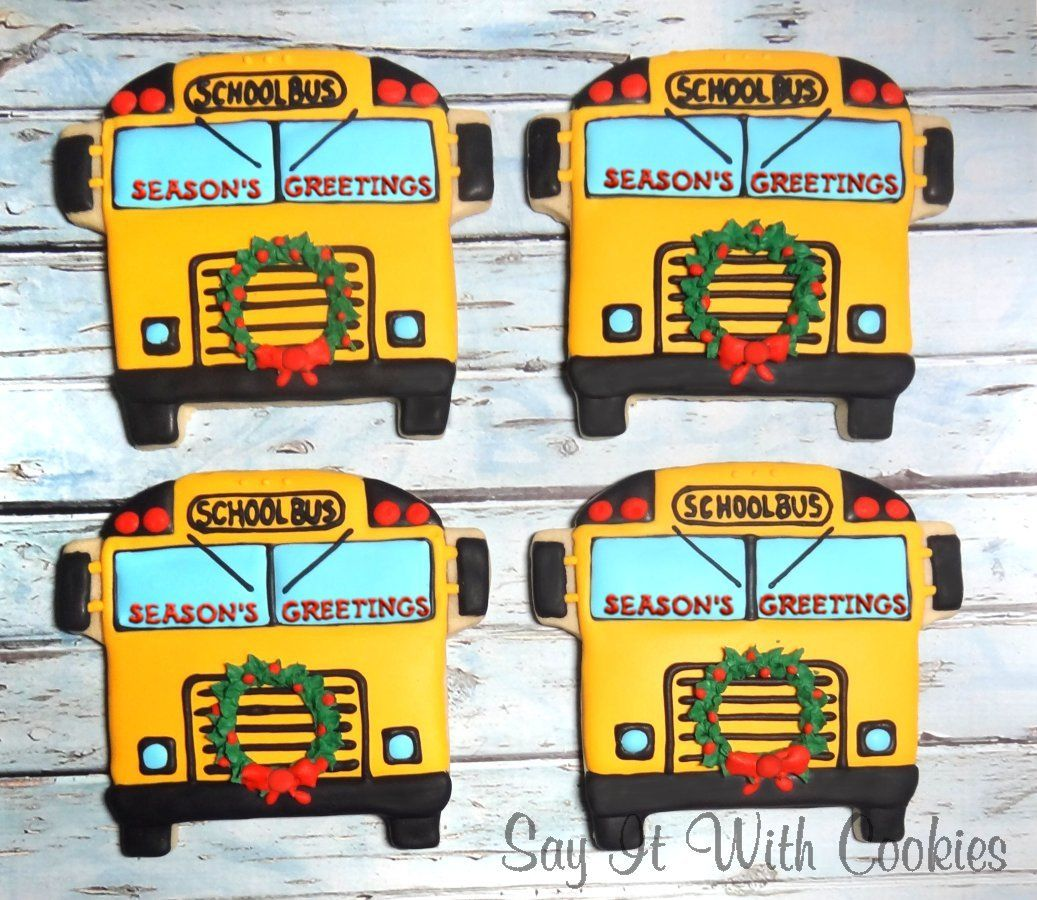 School bus christmas cookies bus driver gift cookies hand school bus christmas cookies bus driver gift cookies hand decorated shortbread cookies solutioingenieria Choice Image