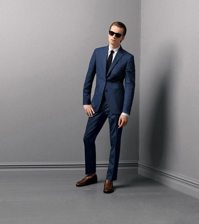 navy blue suit brown shoes pink tie wwwimgkidcom the