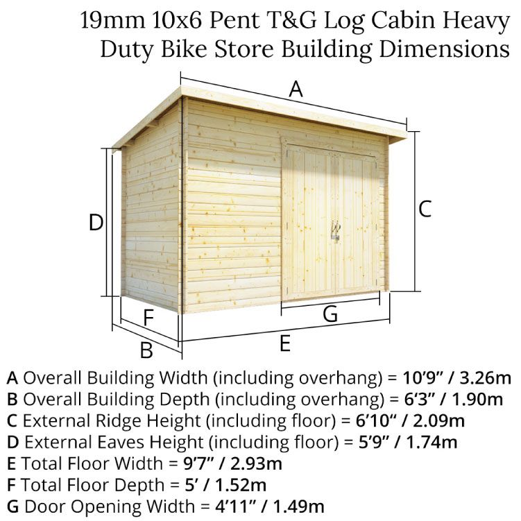 10x6 Log Cabin Double Door 19mm Building A Storage Shed Building A Shed Roof Garden Buildings Direct