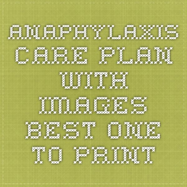 Anaphylaxis Care Plan With Images Best One To Print  Peanut