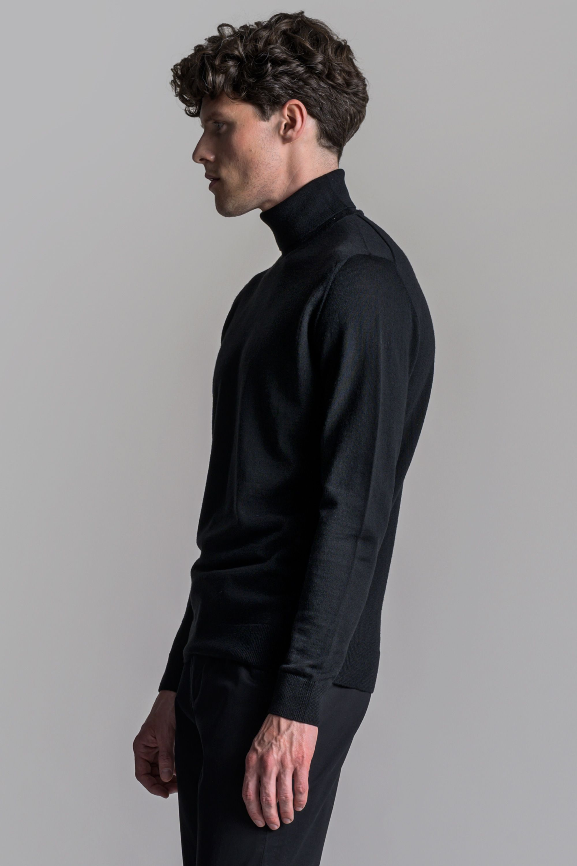 Scandinavian Style Men S Roll Neck Asket In 2020 Mens Roll Neck Roll Neck Wool Turtleneck