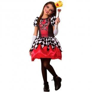 904d7a329f Fantasia Rainha de Copas Infantil Feminina com Coroa e Luvas - Fantasias  carol fsp com as