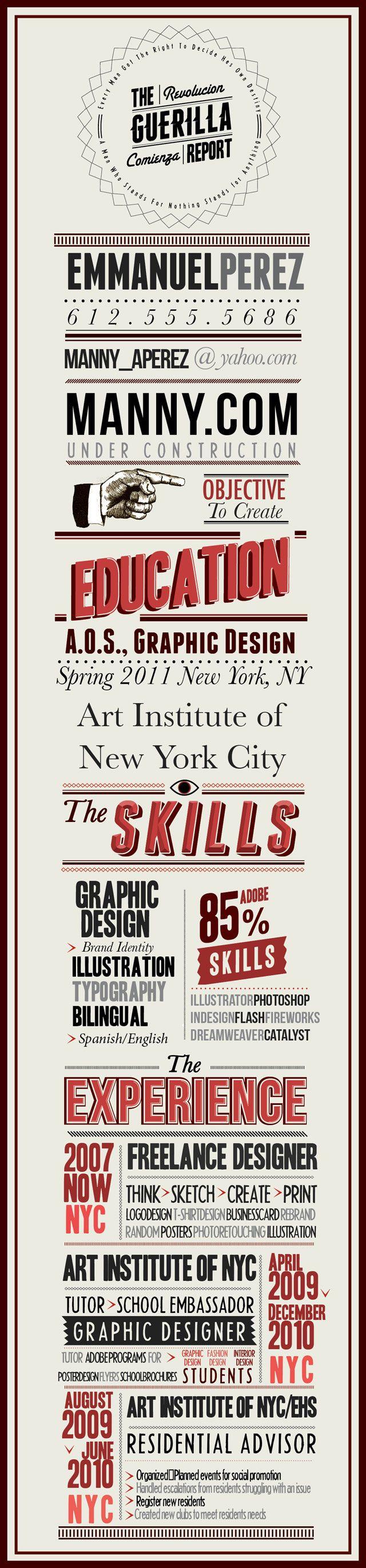 LOVELY POSTER-RESUME BY EMMANUEL PEREZ | Typography | Pinterest ...
