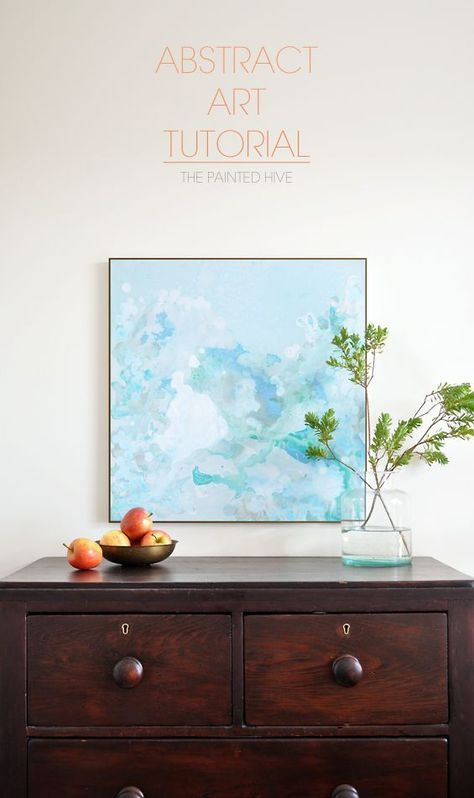 Easy diy abstract art tutorial the painted hive projects easy diy abstract art tutorial the painted hive solutioingenieria Gallery