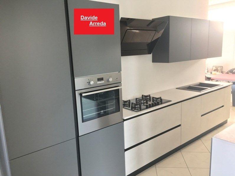 Cucina Dibiesse Lineare Grigia E Cemento Completa Cucine Cucina Grigia Arredamento Casa