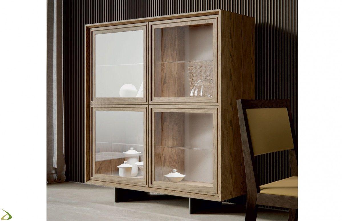 Credenza Con Piattaia Moderna : Credenza classica moderna con cassetto e ante in vetro soggiorni
