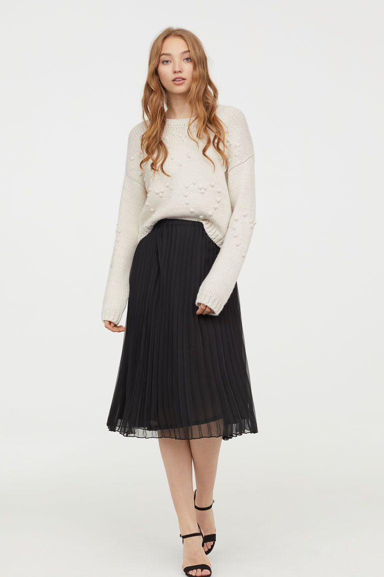 a9d072d704 H&M Pleated Skirt - Black in 2019 | Also Misc. Clothing | Pleated ...