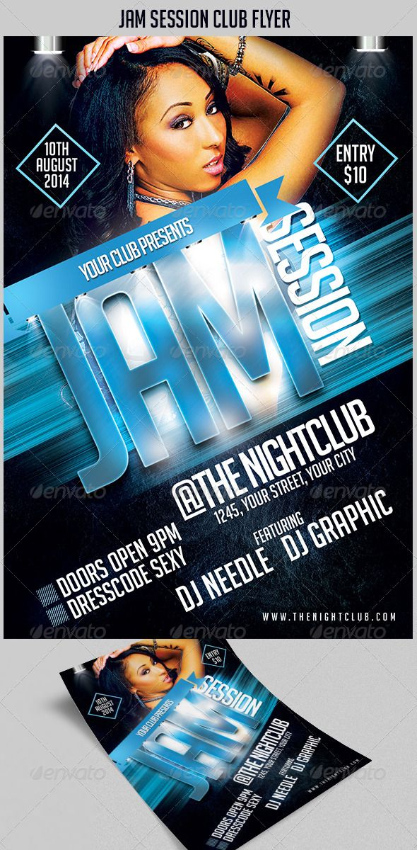 Jam Session Club Flyer  Print Templates Flyer Template And Template