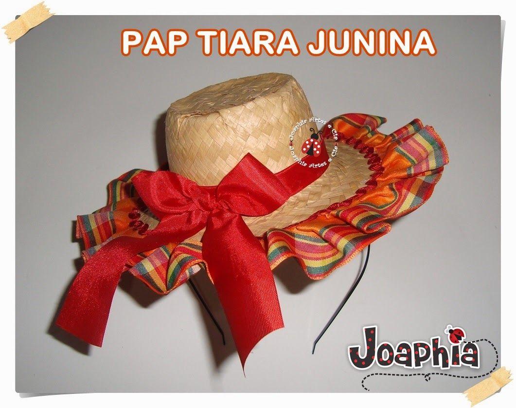 74621f83cb54c PASSO A PASSO TIARA JUNINA COM CHAPÉU DE PALHA
