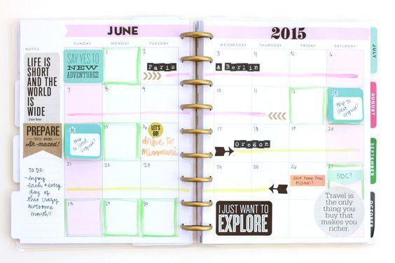 setting up June 2015 in Create 365™ The Happy Planner of mambi Design Team member Heather Adams | me & my BIG ideas:
