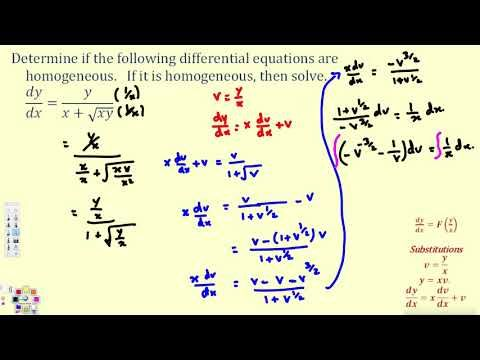 Solve A First Order Homogeneous Differential Equation 3