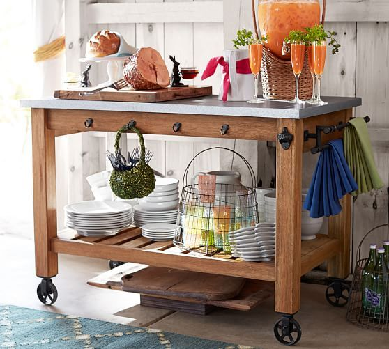 Abbott Island And Hutch Brown Reclaimed Wood Kitchen