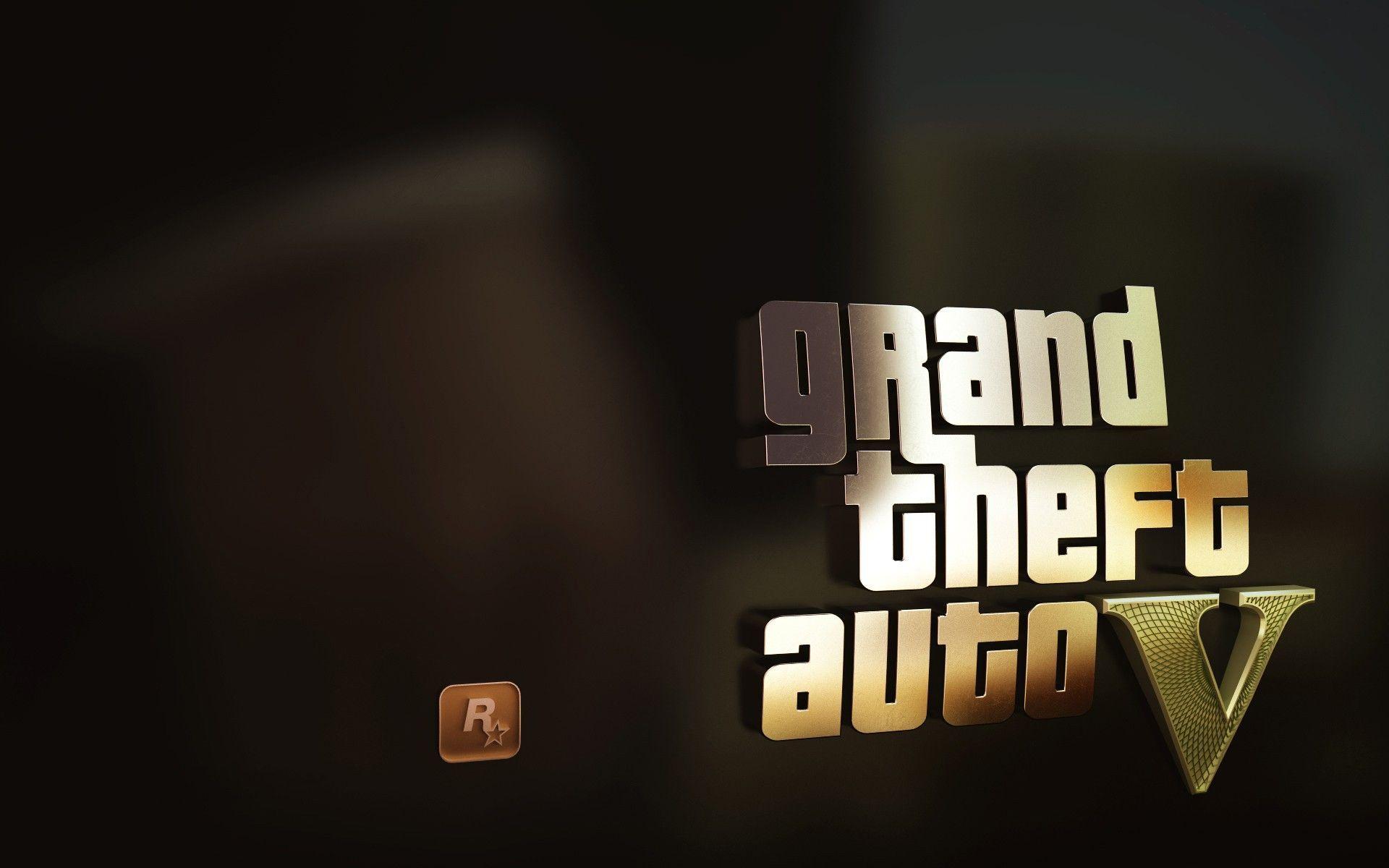 Gold Logo Grand Theft Auto Gta Grand Theft Auto Gta Hd Wallpaper