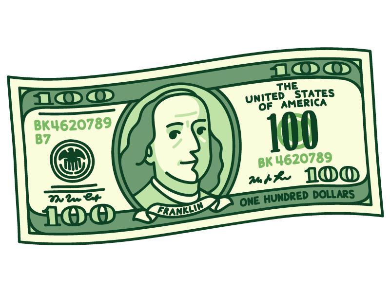 100 Dollar Bill Dollar Tattoo Money Stickers 100 Dollar Bill