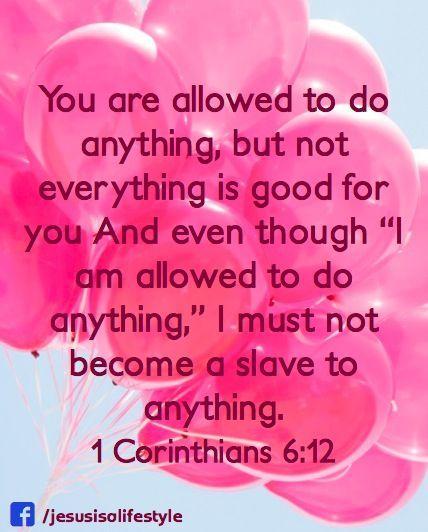 1 Corinthians 6:12 facebook.com/donttakethemark