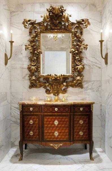 Powder Room Vanities Mother Of Pearl Design