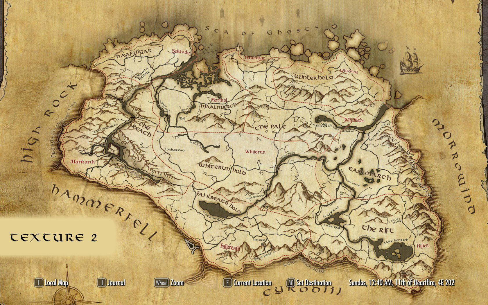 Skyrim map google search story maps pinterest skyrim paper world map at skyrim nexus mods and community gumiabroncs Images