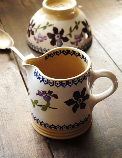 Irish pottery with violets